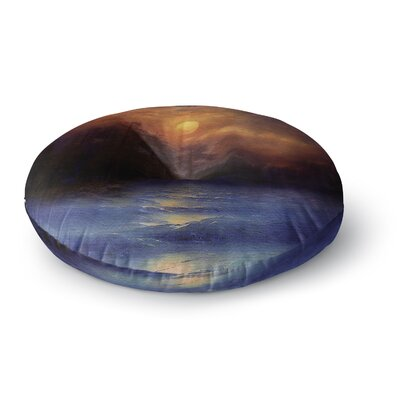 Viviana Gonzalez Hope in the Blue Water Round Floor Pillow Size: 23 x 23
