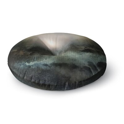 Viviana Gonzalez 'Calling the Sun II' Round Floor Pillow Size: 23