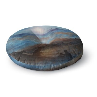 Viviana Gonzalez Calling the Sun VI Round Floor Pillow Size: 26 x 26