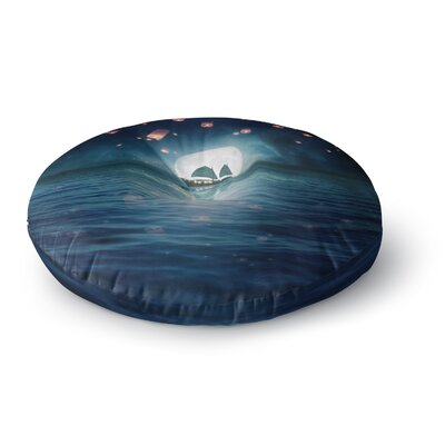 Viviana Gonzalez Travel Through the Lights Digital Round Floor Pillow Size: 26 x 26