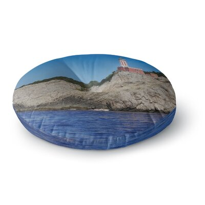 Violet Hudson Happy Lighthouse Coastal Round Floor Pillow Size: 26 x 26