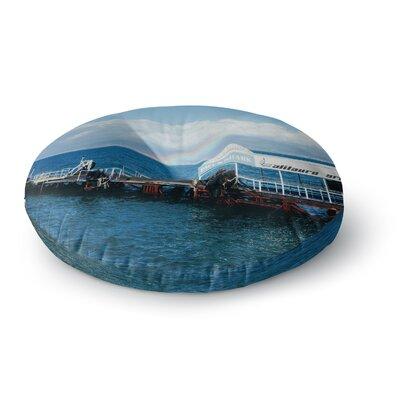 Violet Hudson Rainbow Pier Round Floor Pillow Size: 23 x 23