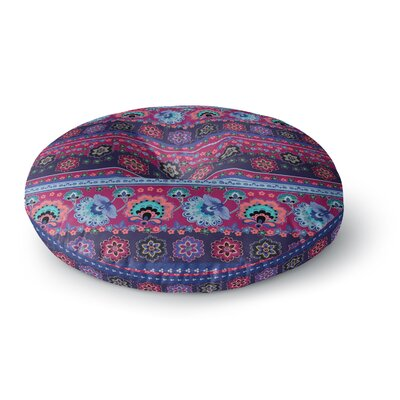 Victoria Krupp Folcloric Border Abstract Round Floor Pillow Size: 23 x 23