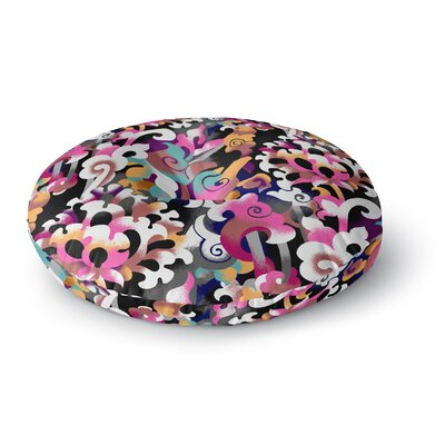 Victoria Krupp Fantasy Flowers Abstract Round Floor Pillow Size: 26 x 26