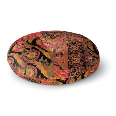 Victoria Krupp Global Patchwork Digital Round Floor Pillow Size: 26 x 26
