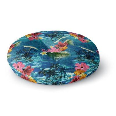 Victoria Krupp Paradise Island Floral Round Floor Pillow Size: 26 x 26