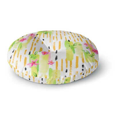 Victoria Krupp Watercolor Garden Floral Round Floor Pillow Size: 23 x 23