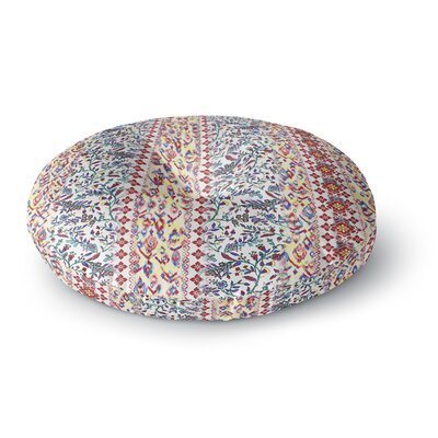 Victoria Krupp Arabesque Panel Abstract Round Floor Pillow Size: 26 x 26
