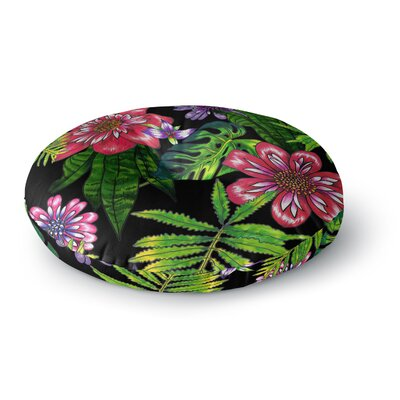 Victoria Krupp 'Doodle Tropic' Round Floor Pillow Size: 23