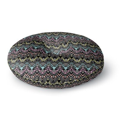 Victoria Krupp 'Tribal Zigzag' Digital Round Floor Pillow Size: 26