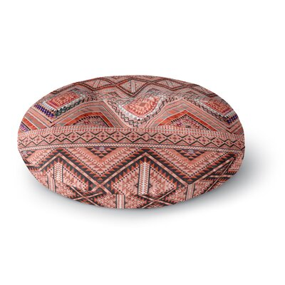 Victoria Krupp 'Native American Art' Illustration Round Floor Pillow Size: 23