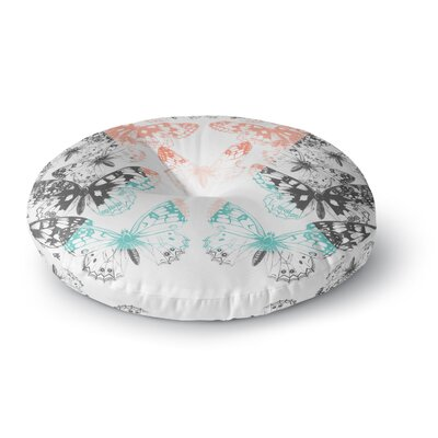 Victoria Krupp Geo Butterflies Illustration Round Floor Pillow Size: 23 x 23