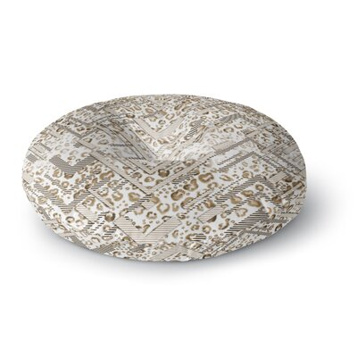 Victoria Krupp Abstract Animal Chevron Digital Round Floor Pillow Size: 26 x 26