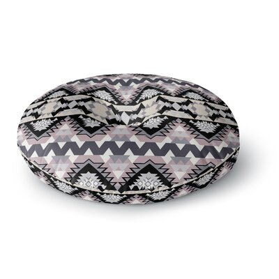 Victoria Krupp Nordic Ice Digital Round Floor Pillow Size: 23 x 23