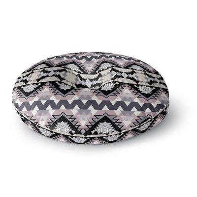 Victoria Krupp Nordic Ice Digital Round Floor Pillow Size: 26 x 26