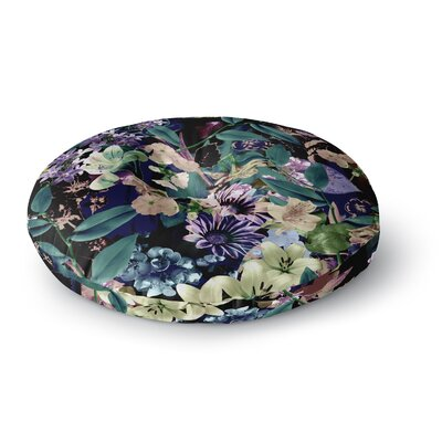 Victoria Krupp Midnight Garden Digital Round Floor Pillow Size: 26 x 26