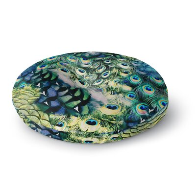 Victoria Krupp 'Feather Mix' Digital Round Floor Pillow Size: 26