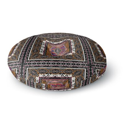 Victoria Krupp 'Tibet Mandala' Illustration Round Floor Pillow Size: 26