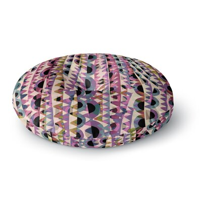 Victoria Krupp 'Abstract Pattern' Digital Round Floor Pillow Size: 23