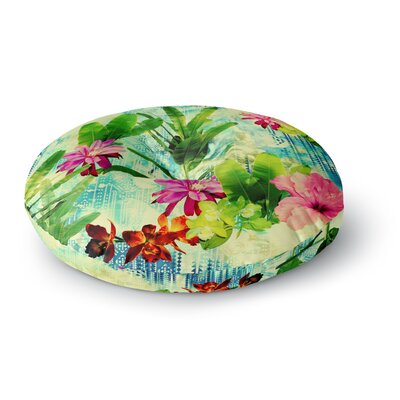 Victoria Krupp Tropical Lagoon Illustration Round Floor Pillow Size: 26 x 26