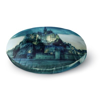 888 Design Haunted Castle Fantasy Round Floor Pillow Size: 26 x 26