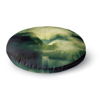 888 Design Dark Mystical Landscape Round Floor Pillow Size: 23 x 23