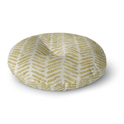 888 Design Golden Vision Round Floor Pillow Size: 26 x 26