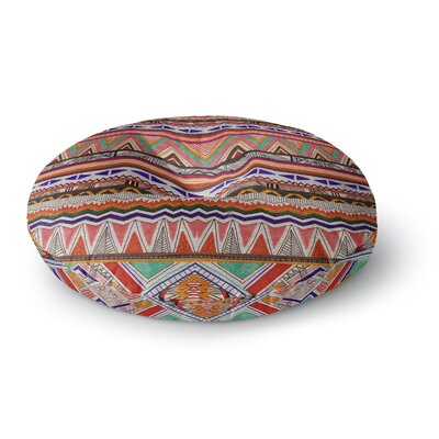 Vasare Nar Native Tessellation Round Floor Pillow Size: 26 x 26