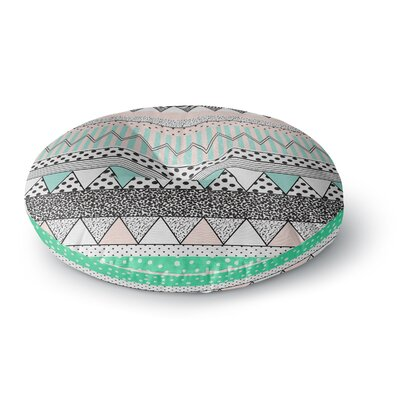 Vasare Nar Chevron Motif Round Floor Pillow Size: 23 x 23