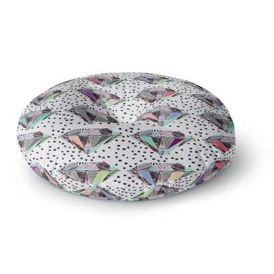 Vasare Nar Polka Dot Diamonds Rainbow Round Floor Pillow Size: 23 x 23