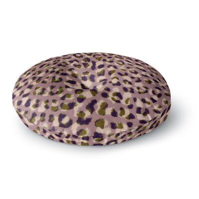 Vasare Nar Leo Cheetah Animal Round Floor Pillow Size: 23 x 23