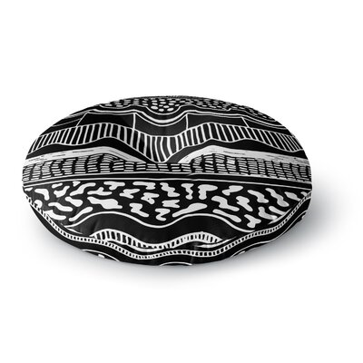 Vasare Nar Abiodun Tribal Round Floor Pillow Size: 26 x 26