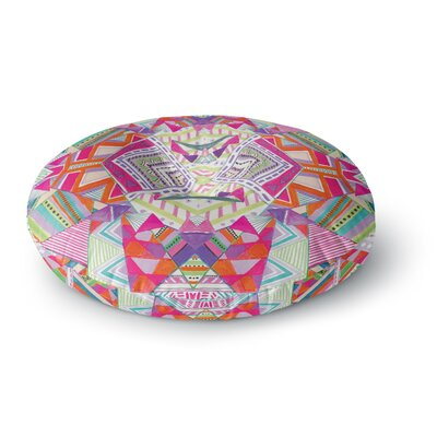 Vasare Nar Carrousel Geometric Rainbow Round Floor Pillow Size: 23 x 23