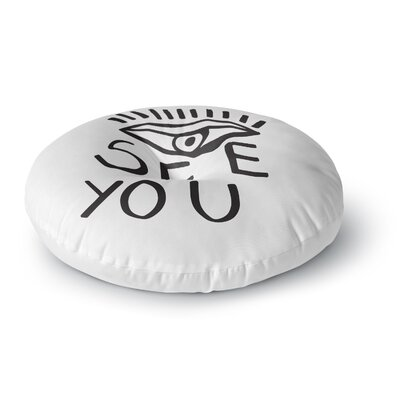 Vasare Nar Eye See You Round Floor Pillow Size: 23 x 23
