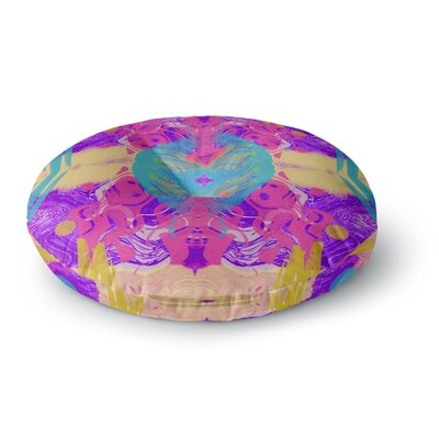 Vasare Nar Glitch Kaleidoscope Round Floor Pillow Size: 23 x 23