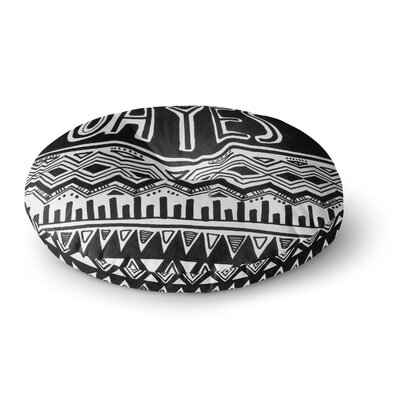 Vasare Nar Oh Yes Round Floor Pillow Size: 23 x 23