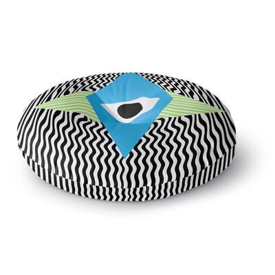 Vasare Nar Eye Optical Round Floor Pillow Size: 26 x 26