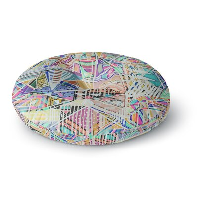 Vasare Nar 'Abstract Geometric Playground' Round Floor Pillow Size: 26