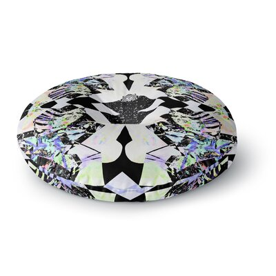 Vasare Nar Abstract Zebra Round Floor Pillow Size: 26 x 26