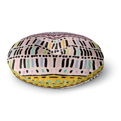 Vasare Nar 'Native Pastel' Round Floor Pillow Size: 26