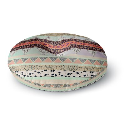 Vasare Nar Animal Print Tribal Round Floor Pillow Size: 23 x 23