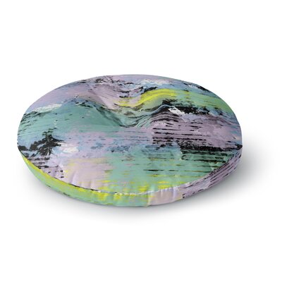 Vasare Nar 'Watercolor Texture' Round Floor Pillow Size: 26