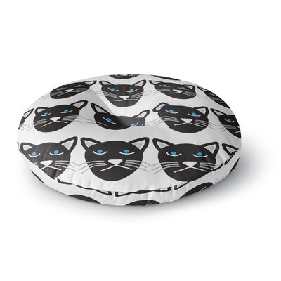 Vasare Nar Grumpy Cat Animals Round Floor Pillow Size: 26 x 26