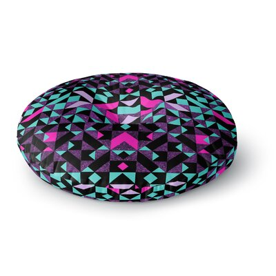 Vasare Nar Geometric Galaxy Digital Round Floor Pillow Size: 26 x 26
