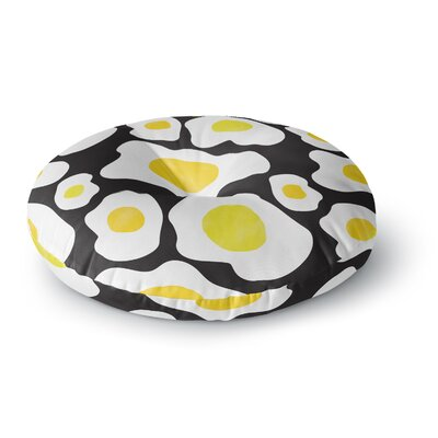 Vasare Nar Fried Eggs Pattern Pop Art Round Floor Pillow Size: 26 x 26