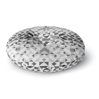 Vasare Nar Monochrome Geometric Geometric Round Floor Pillow Size: 26 x 26