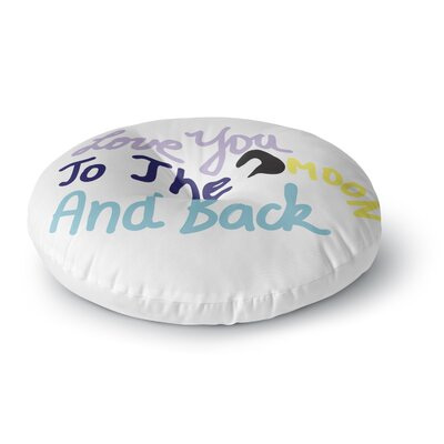 Vasare Nar Love You to the Moon and Back Vector Round Floor Pillow Size: 26 x 26