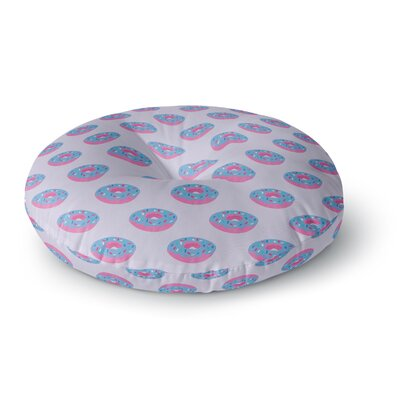 Vasare Nar Pastel Doughnut Heaven Pop Art Round Floor Pillow Size: 26 x 26