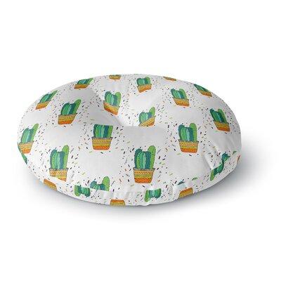 Vasare Nar Cacti Cactus Fiesta Art Deco Sage Round Floor Pillow Size: 23 x 23