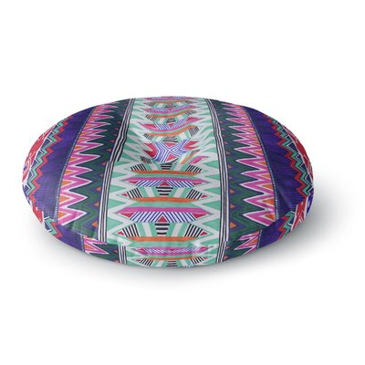 Vasare Nar Folk Tribal Ethnic Tribal Round Floor Pillow Size: 26 x 26